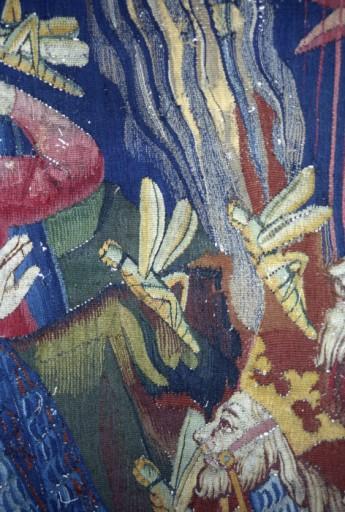 Envers de la pièce 2, scène 24 de la tenture de l'Apocalypse.